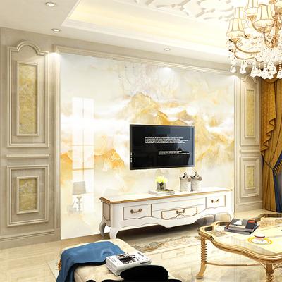 电视背景墙瓷砖客厅大气边框罗马柱微晶石护墙板欧式装饰背景简约