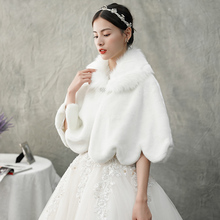 Hepburn Wind 2009 Autumn and Winter New White Fur Shawl Bride's Wedding Garment Accessories Elegant Wind-proof Shawl