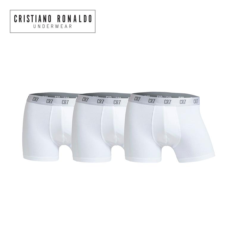 尤文C罗男士内裤性感透气平角裤纯棉青年四角裤CR7运动短裤3条装