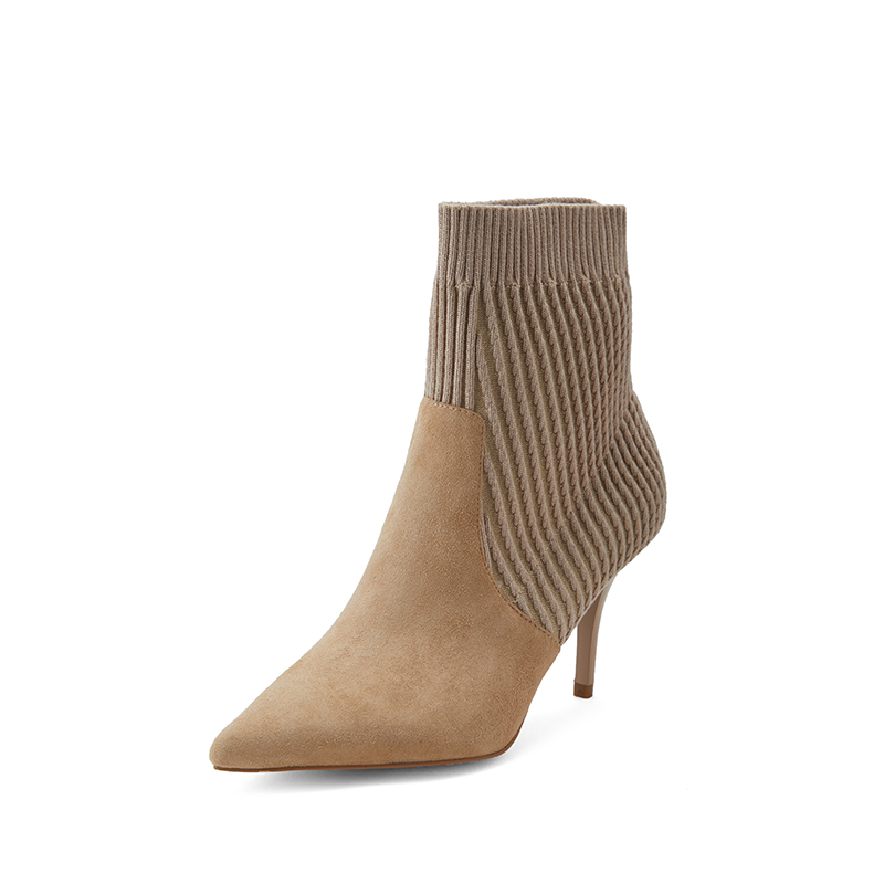 TB / tuobeis new womens knitted splicing socks and boots q0284064 in autumn and winter 2018