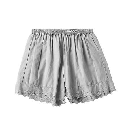 日系宽松防走光夏季纯棉蕾丝打底裤