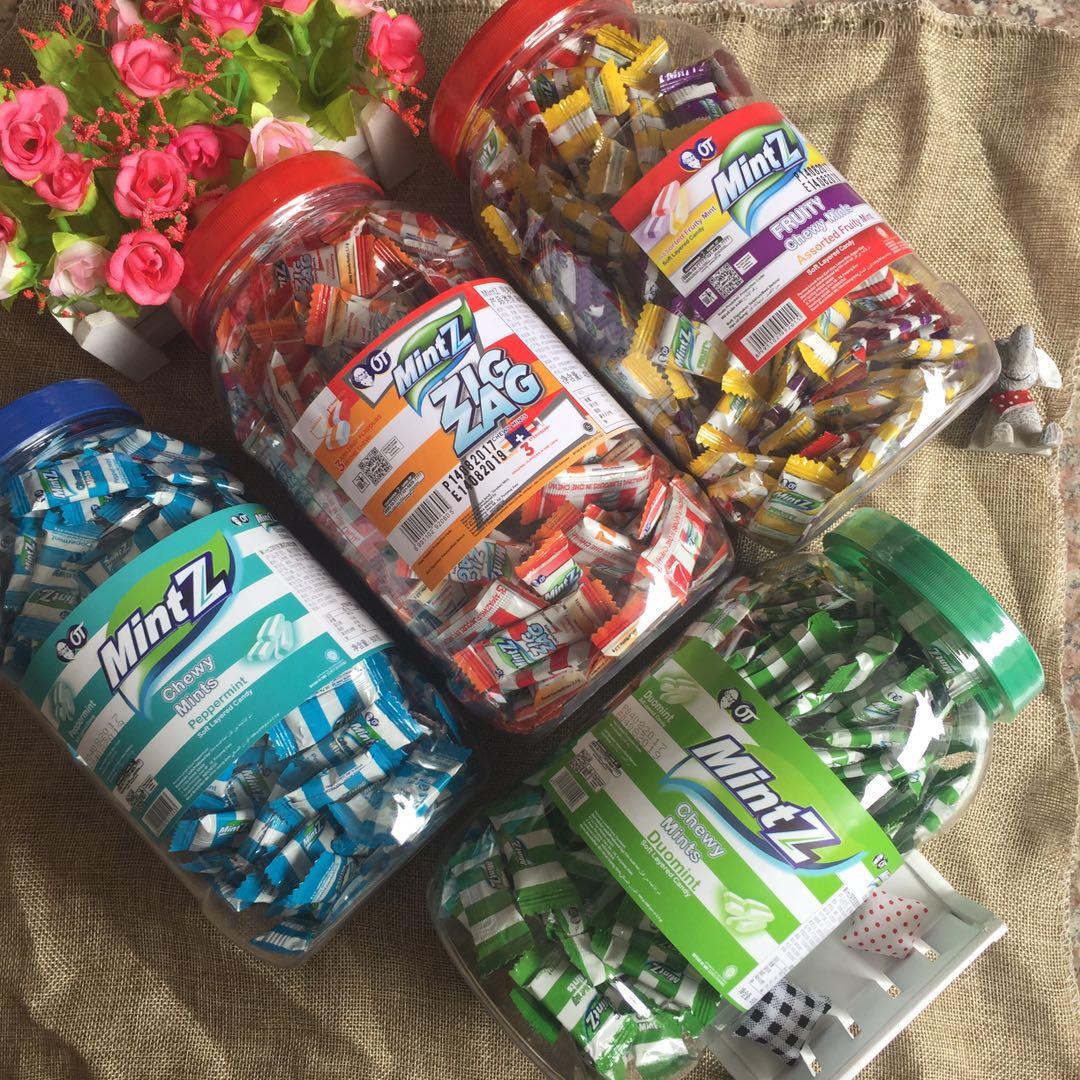 印尼进口糖果 MintZ牌特浓薄荷味软糖 经典薄荷糖460克瓶装薄荷糖