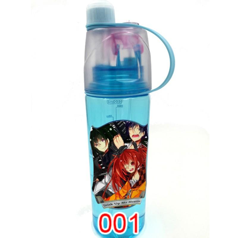 喷雾水壶漆黑的子弹创意logo夏季韩版大容量学生喷雾水杯 4529
