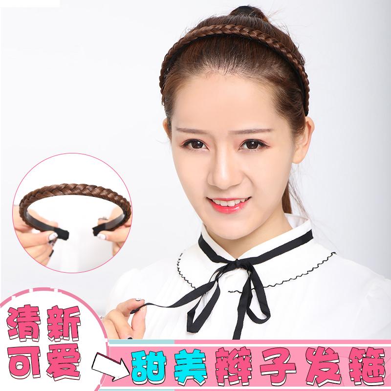 Парик мисс витой коса головной убор заставка корейский ручной кодирования система витой выпуск карты скольжение зубчатый парик заставка