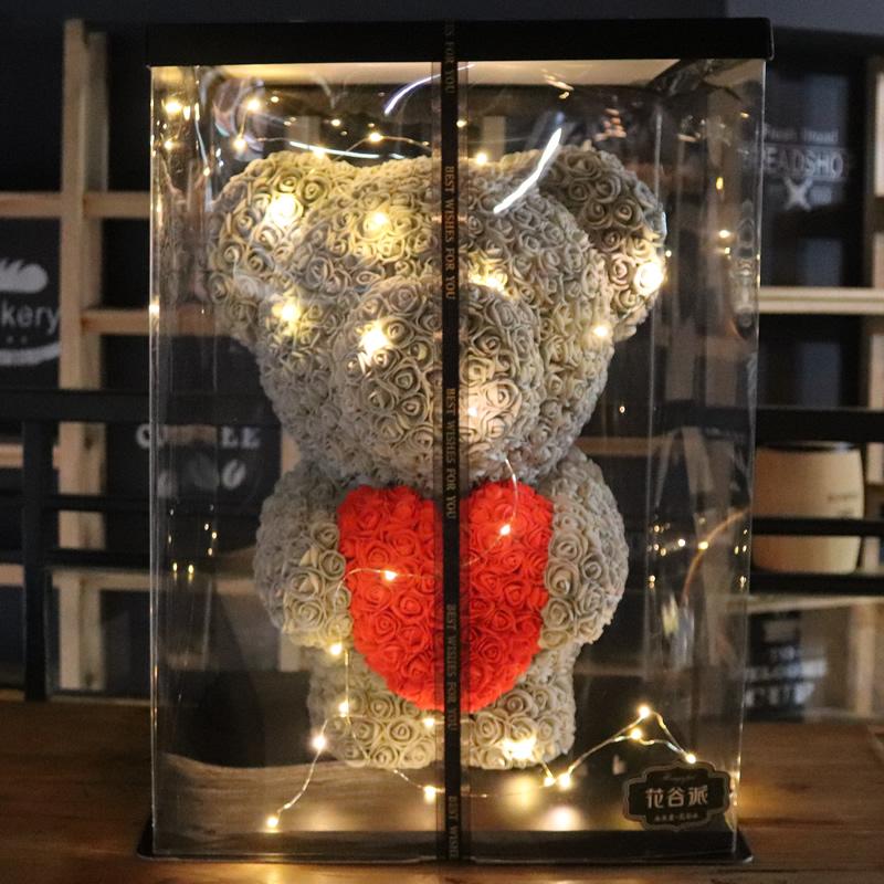 Туалетное мыло цветы роз медведь маленькая слива белый нефрит в этом же моделье мать день святого валентина 520 день рождения подруга подарок вечная жизнь цветок медведь