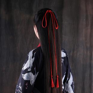 古裝發繩流蘇宮絛漢服頭飾古風發帶少女束髮頭繩腰帶綁發超仙配飾
