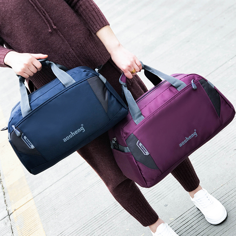 New fitness bag mens and womens travel bag large capacity short distance one shoulder slant cross portable travel bag small luggage bag