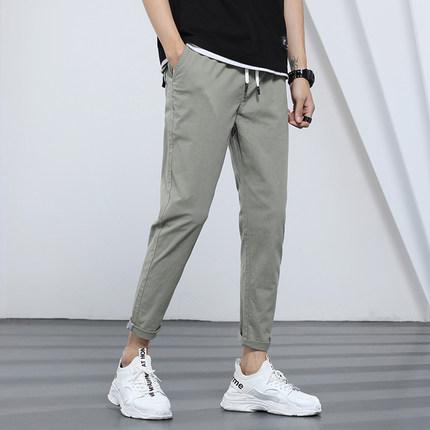 九分裤男士休闲裤夏季薄款修身弹力宽松小脚裤子男韩版潮流9分裤