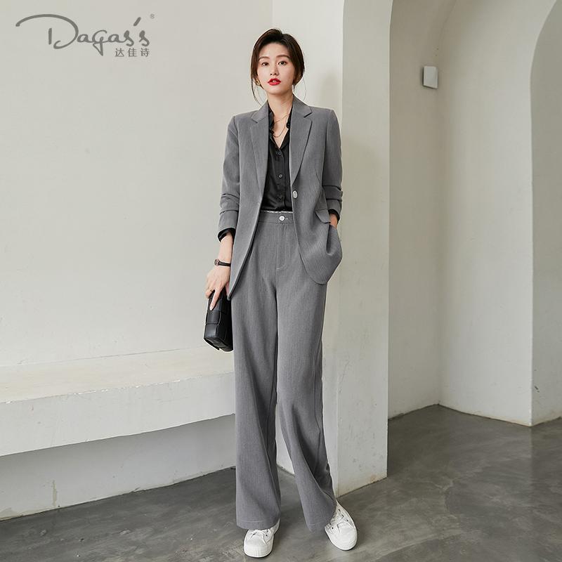 灰色外套女职业套装韩版春秋小西服好用吗