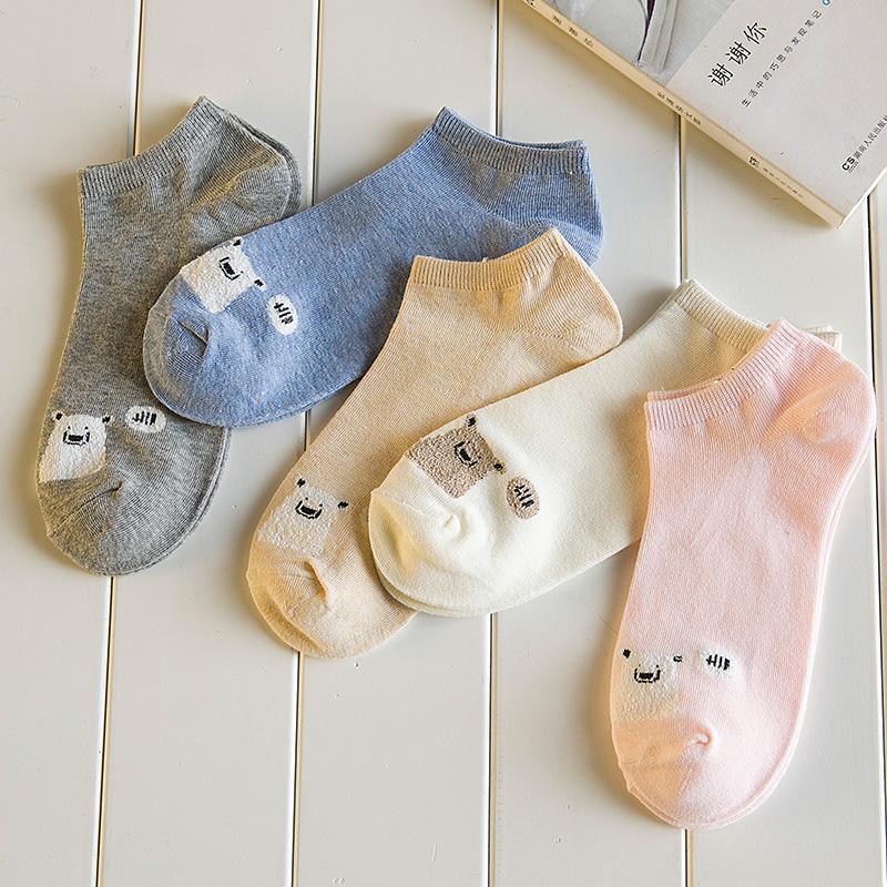 袜子女夏季薄款短袜纯棉浅口船袜女韩国可爱日系隐形短筒低帮女袜