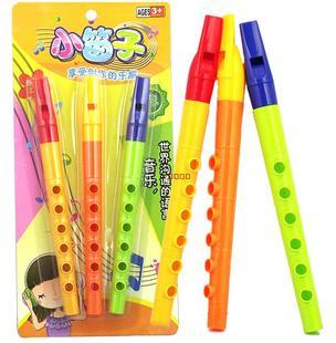 儿童益智玩具塑料小竖笛短笛子节日派对小玩具孩子吹奏类玩具乐器图片