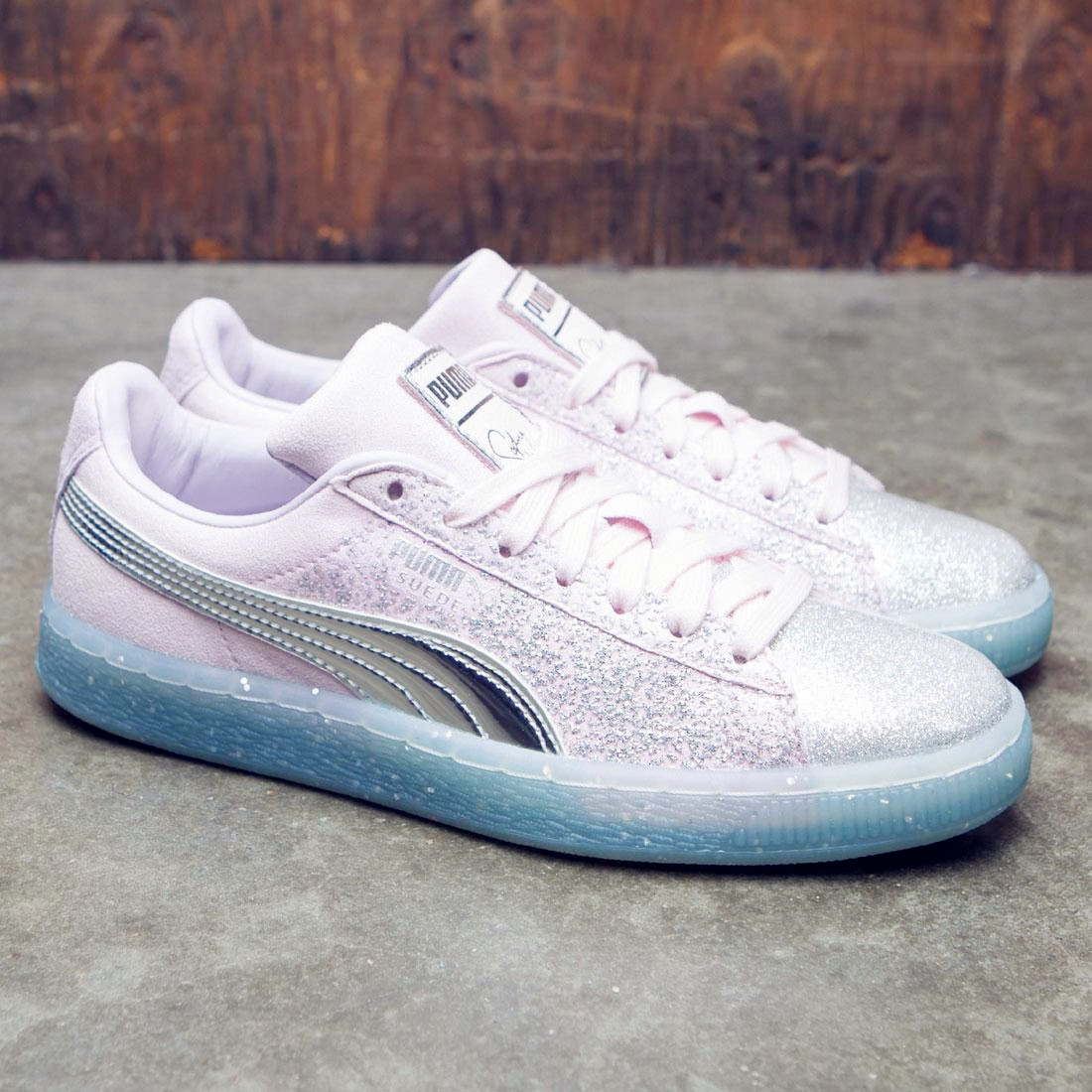 美��代�正品PUMA彪�R女鞋�名款��角�F水晶底粉色板鞋366128-01