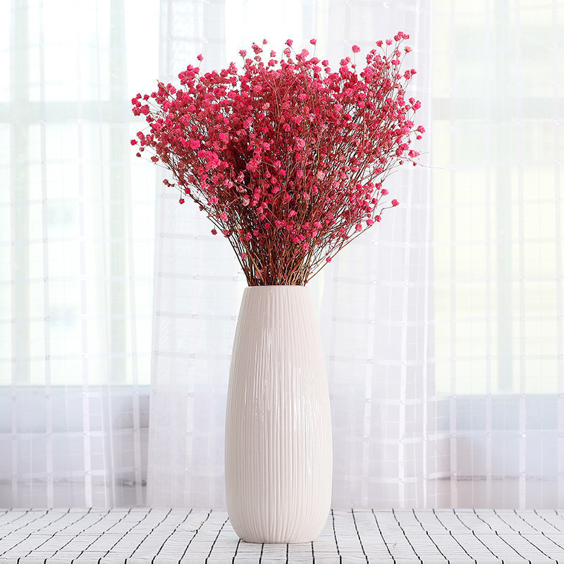 Gypsophila Dried Flowers With Vases Ceramics Small Fresh Modern
