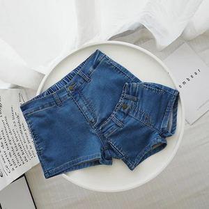 安安家婴童装婴儿亲子装母女装夏季百搭针织牛仔短裤1-3岁宝宝裤