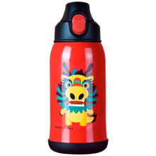 Cup bear child cup with straw stainless steel male and female pupils baby shatter-resistant kindergarten cup water bottle