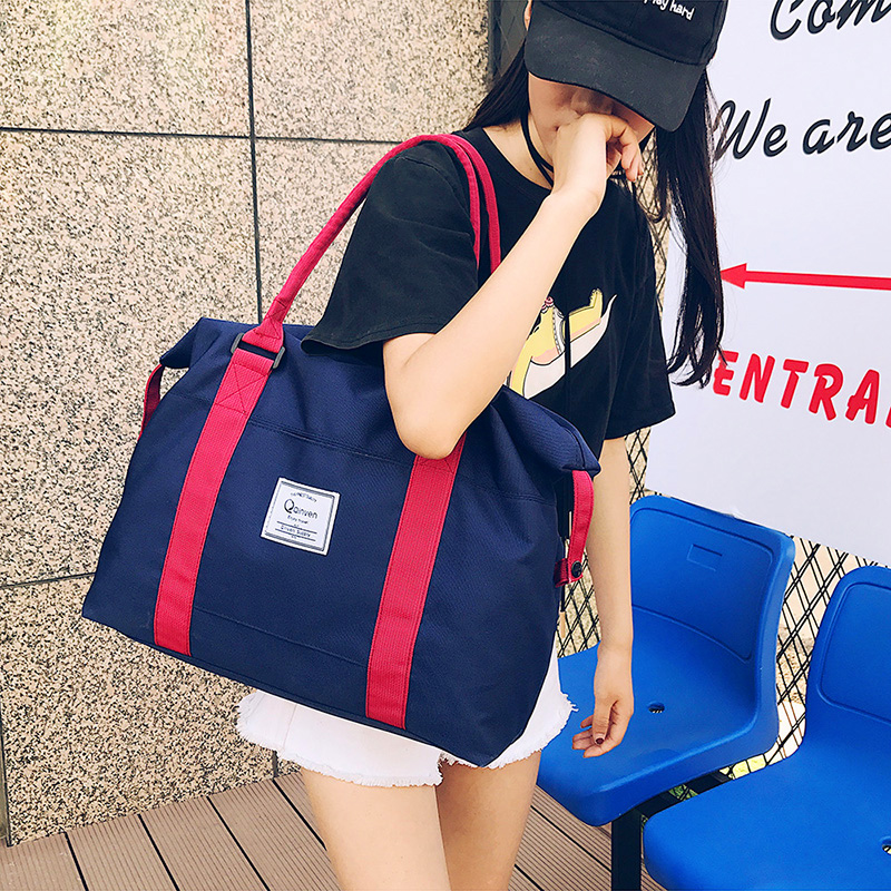 Short distance travel bag female Korean version simple luggage bag fitness business trip male small portable large capacity travel bag