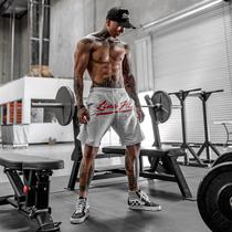 肌肉型男账动短裤兄弟跑步训练篮球裤纯棉宽松透气健身中裤五分裤