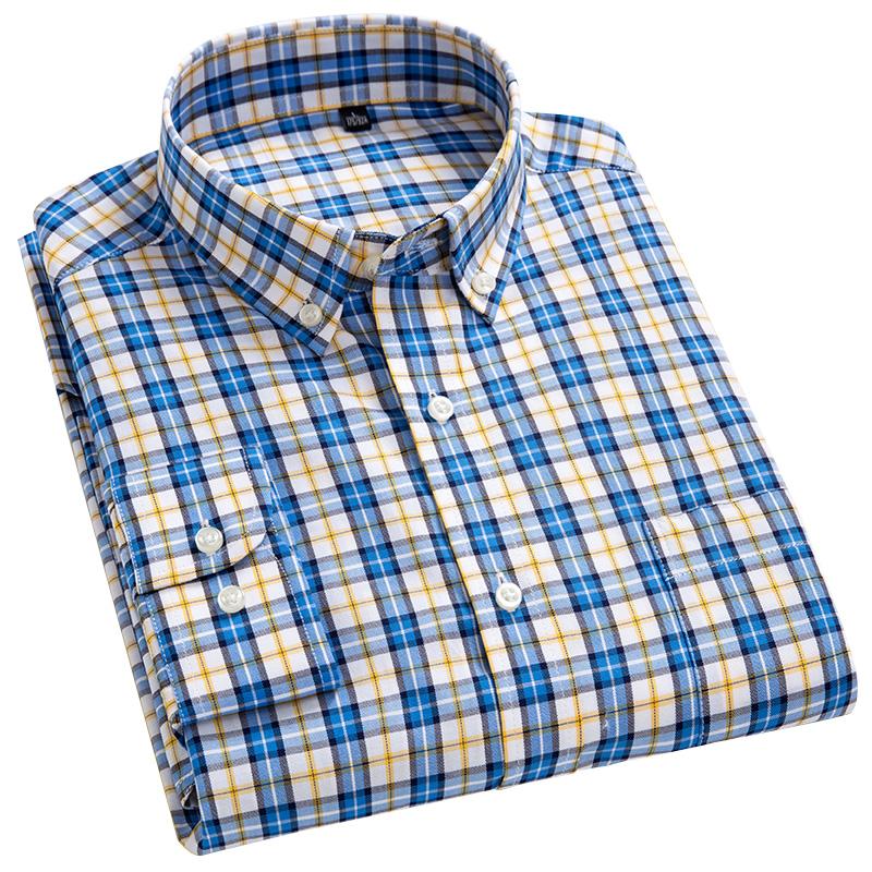 秋季男士纯棉英伦方格子日系衬衫评价如何