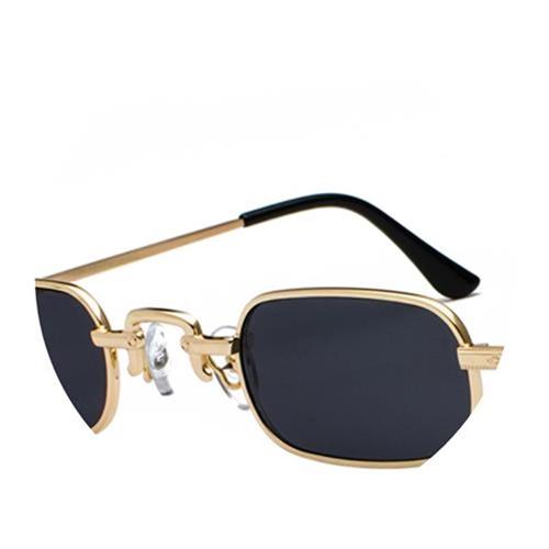 小方框复古太阳眼镜四方形墨镜男女时髦凹造金属眼镜框欧美街拍潮