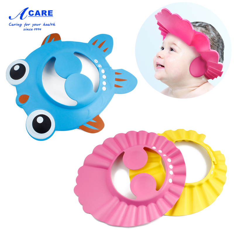 儿童宝宝洗头帽子防水护耳神器小孩洗澡可调节幼婴儿幼儿洗发浴帽