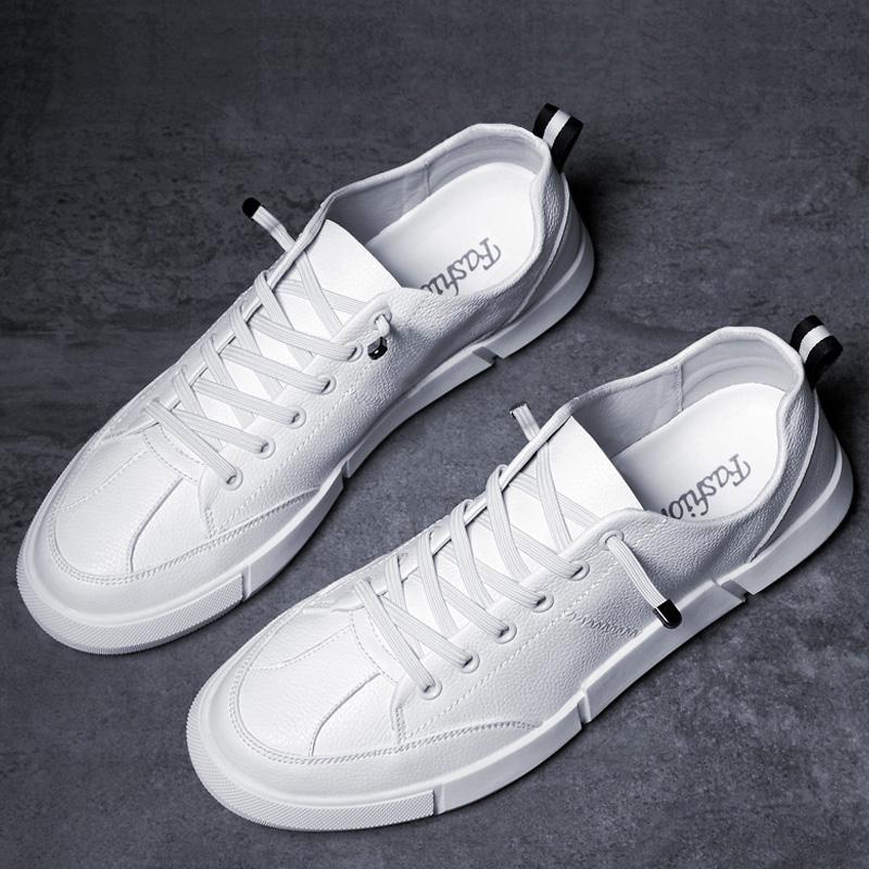 文�小白鞋男士小白鞋2018新款男鞋夏季透�獍俅畲杭卷n版平底板鞋
