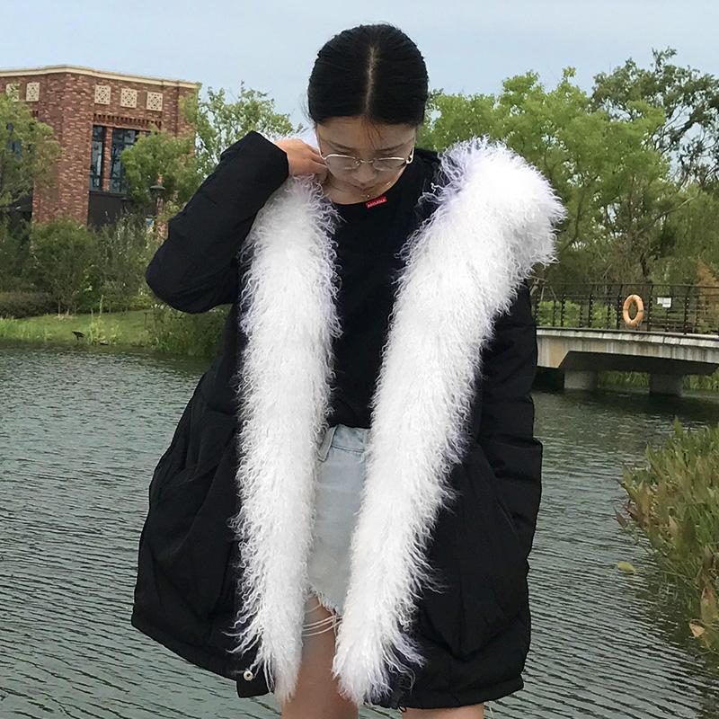 High-definition 2017 новая загущая шерсть пляжная шерсть меховой воротник меховая куртка женский короткий параграф