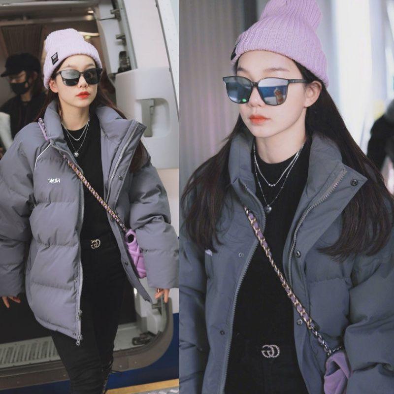 冬季外套棉服女2021新款冬天棉袄学生韩版棉衣反季清仓女装面包服