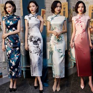 改良版 气质优雅 旗袍连衣裙年轻款 少女2020新复古中国风旗袍中长款