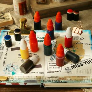 時間軸todo光敏印章專用印油手帳手賬卡通教師財務專用彩色油墨