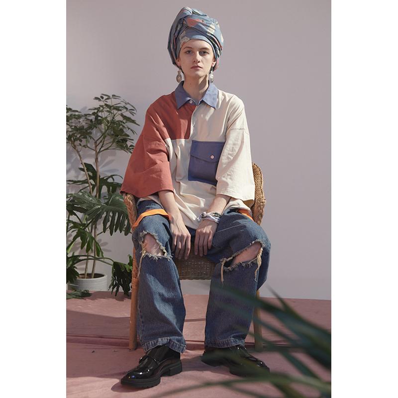 中國代購 中國批發-ibuy99 polo������ UMAMIISM 20SS 伟大的油画家夏日纯棉翻领OVERSIZE马球POLO衫