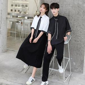 高三毕业校服班服夏季套装韩版学生ins港风学院风高中生女生裙子
