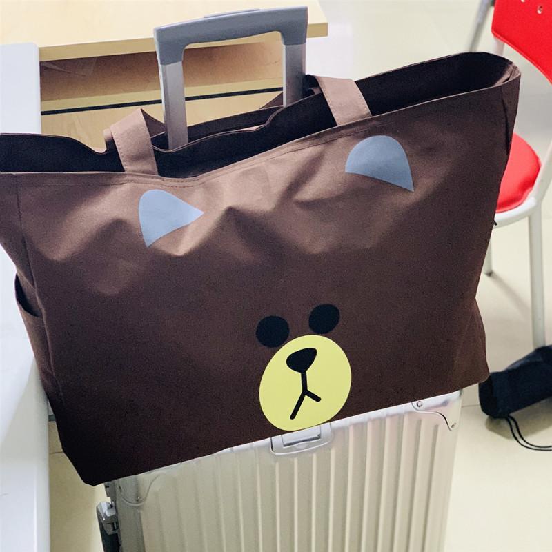 旅行包袋行李轻便大容量男女手提包包帆布短途箱袋子便携待产收纳