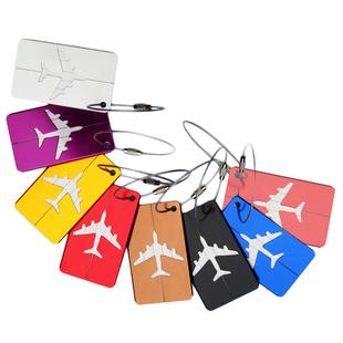 铝合金行李牌 登机飞机行李卡亚马逊 箱包吊牌 定制LOGO会议礼品