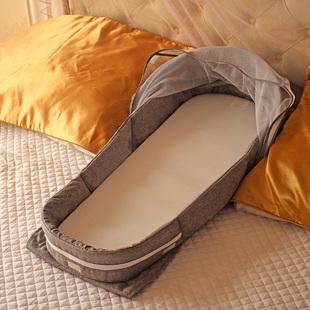贝卡迪婴儿床中床多功能便携式可折叠旅行宝宝床防压新生儿床上床价格