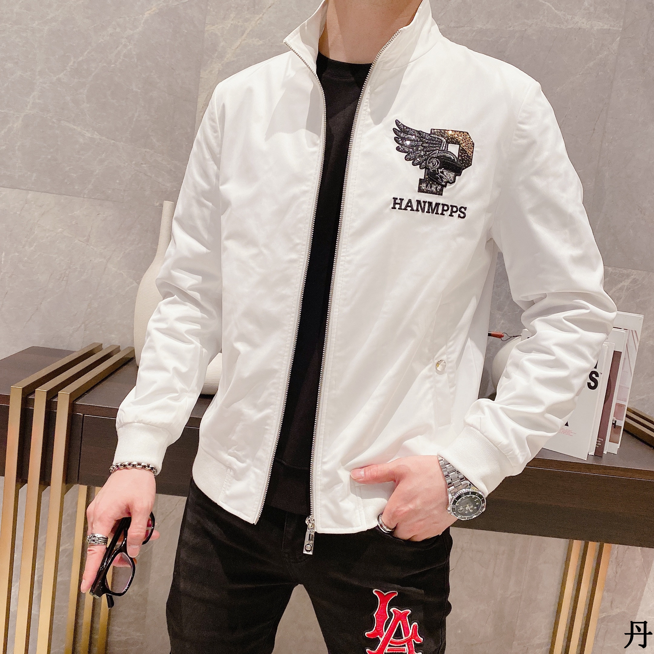 2021 autumn new mens net red jacket fashion trend personalized Sequin embroidery handsome casual coat mens fashion
