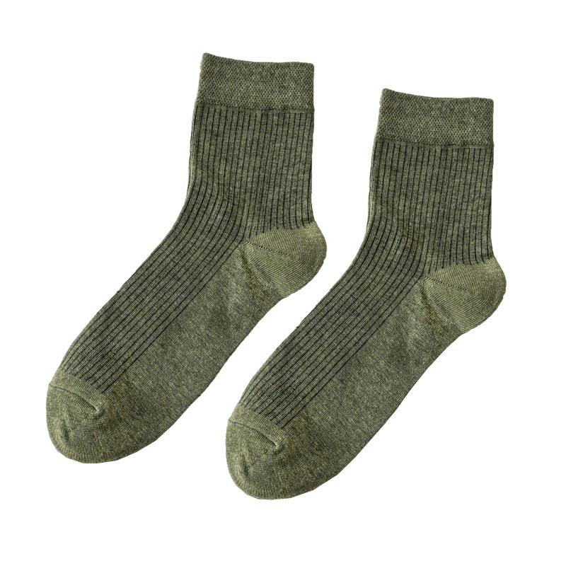 南极人袜子男士中筒袜纯棉秋季全棉防臭吸汗短袜秋冬黑色长袜女潮