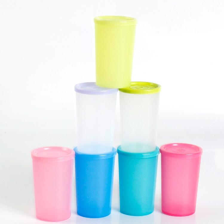 特百惠 140ml迷你QQ防漏随身水杯塑料密封保鲜杯子旗舰正品特价店