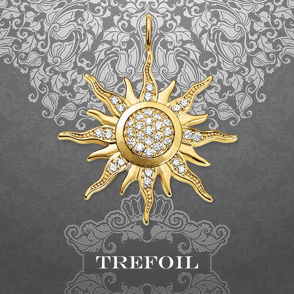 Golden glittering Sun Pendant 925 Sterling Silver national gift for men and women