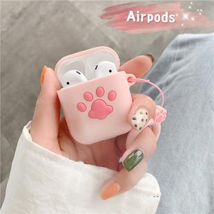 可爱猫爪airpods保护套airpods Pro耳机套3代苹果无线蓝牙2代女款