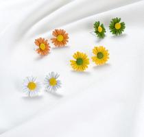 权志龙同款紫藤花朵朵耳钉韩国气质简约新款s925银针小雏菊耳环