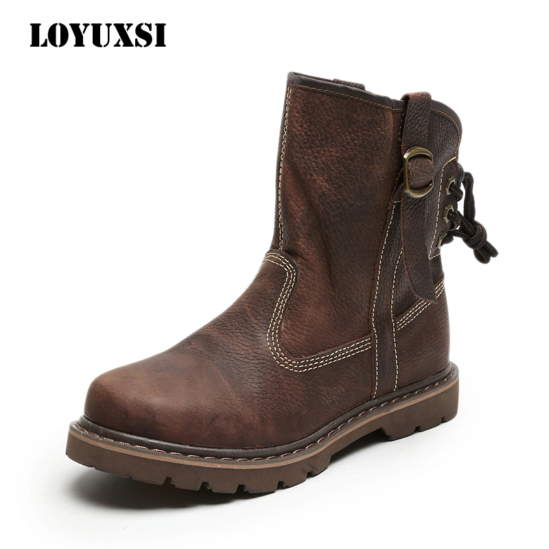 Martin boots women's summer thin British style Knight boots leather short boots outdoor women boots middle tube boots breathable Horse Boots