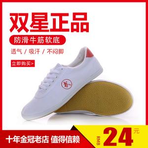 武术鞋青岛双星正品太极鞋 男女款帆布练功鞋儿童武术太极鞋包邮
