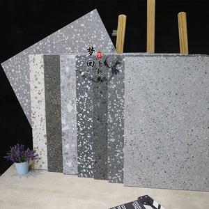 现代颗粒水磨石地砖600*600仿古砖餐厅服装连锁店防滑耐磨瓷转