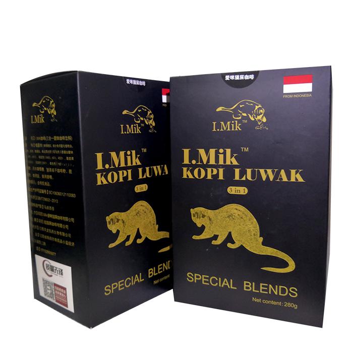 猫屎咖啡 印尼I.Mik爱咪猫屎速溶咖啡麝香猫咖啡豆咖啡粉 正品