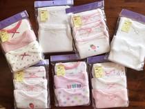 一包三件 出口日本原单 无荧光剂100%棉女童夏天打底背心短袖透气