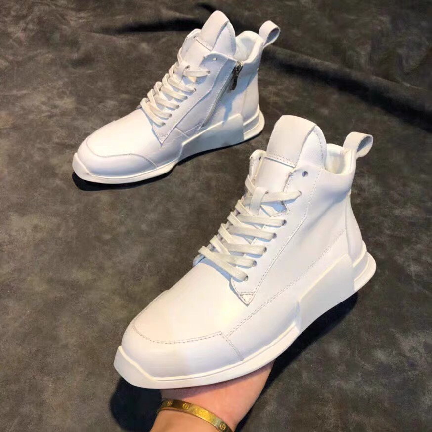 Mens shoes gaobangchao brand genuine leather mens small white shoes 2019 new versatile Korean couple leisure sports board shoes