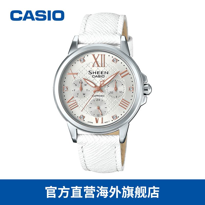 正品保证casio海外旗舰店sheen指针女手表