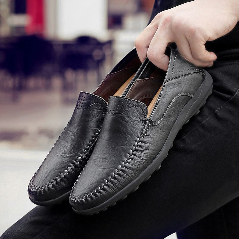 Soft soles for work fragrant shoes for men new air permeable British casual mens shoes for lazy driving Korean version