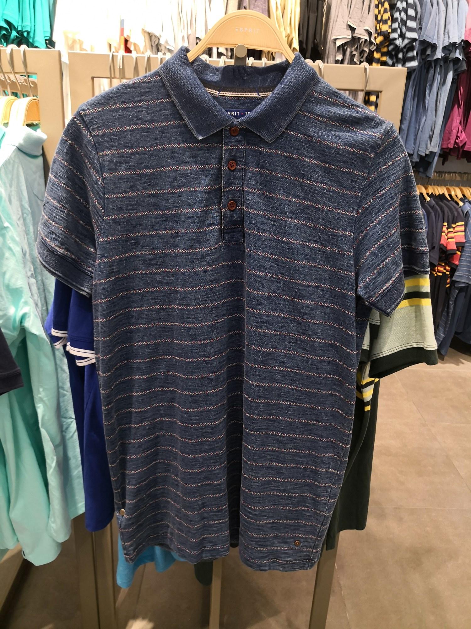 ESPRIT 专柜正品 077EE2K018 男士 休闲夏款 条纹 短袖T恤 POLO衫