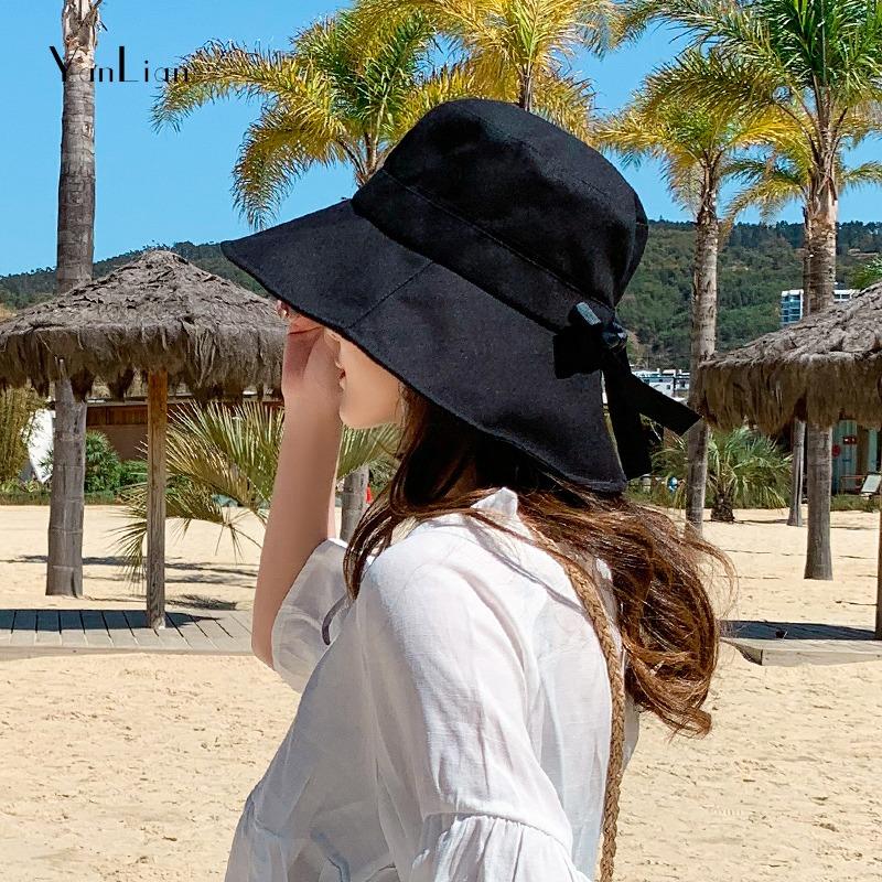 太阳帽女夏天户外旅游折叠防晒防紫外线沙滩渔夫遮阳盆帽韩版帽子
